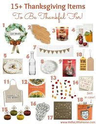 15 thanksgiving items to be thankful for