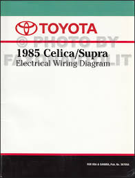 1985 toyota celica supra repair shop manual original