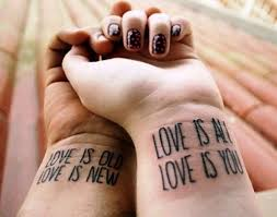 one life one love couple tattoos on wrists