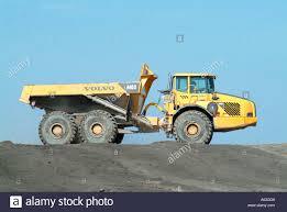 big volvo large dump truck earth moving construction vehicle trucks volvo