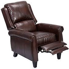 amazon com giantex pu leather recliner chair push back club