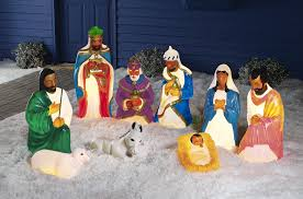 Outdoor Plastic Light Up Nativity Scene by Fingerhut 9 Pc African American Nativity Set