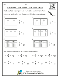 equivalent fractions worksheets and more fourth grade math