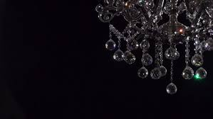 Crystal And Black Chandelier Crystal Chandelier On Black Background Crystals Sway And Sparkle
