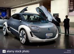 renault motor renault zoe z e concept an electric car at the auto mobil stock