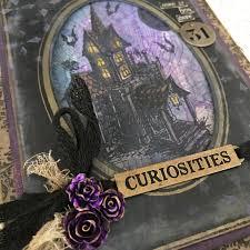 black and purple halloween background richele christensen halloween releases from tim holtz