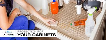 Sink Base Cabinet Liner by Xtreme Mats Under Sink Cabinet Mats And Water Sensors
