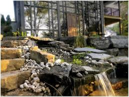 backyard waterfalls home outdoor decoration