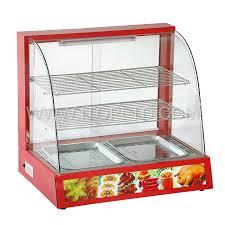 curved glass buffet food warmer showcase guangzhou itop kitchen