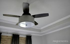Diy Ceiling Light by Diy Drum Shade Ceiling Fan Crazy Wonderful