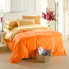 King Size Cotton Duvet Cover Fashion Solid Color Home Textile Black And Yellow 4pc Queen King