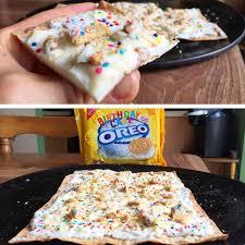 birthday cake oreo cheesecake protein pizza flexible
