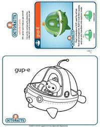 octonauts coloring pages crafts disney junior sound