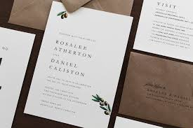 Wedding Invitation Suite Traditional Olive Branch Wedding Invitation Suite Tied U0026 Two