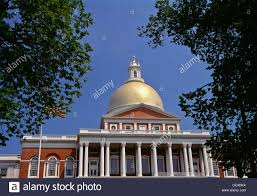 Massachusetts State House Boston Ma Usa Stock Photo Royalty