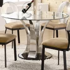 table prepossessing emejing glass top pedestal dining room tables