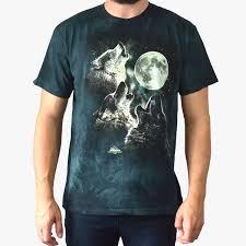 the mountain three wolf moon glow cosmic
