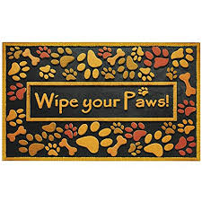 amazon com large wipe your paws doormat outdoor heavy duty