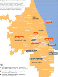 Evanston Illinois Map by United Way Neighborhood Network United Way Of Metropolitan