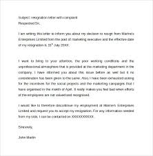 sample resignation letters in word