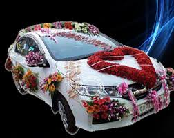 wedding car decoration online flowers and bouquet delivery in