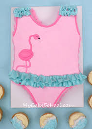 swimsuit cake blog tutorial with simple beach cupcakes my