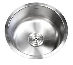 Round Kitchen Sink by 17 Inch Stainless Steel Undermount Single Bowl Kitchen Bar