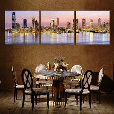 online get cheap wall stickers cityscape aliexpress com alibaba three square art canvas painting home wall digital painting home decoration