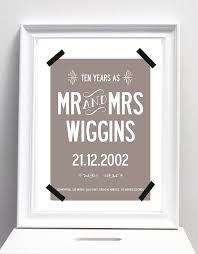 second year wedding anniversary ten year wedding anniversary personalised by i design