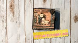 Graphic 45 Halloween In Wonderland by Graphic 45 Master Detective Book In A Box Youtube