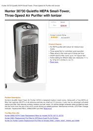hunter fan air purifier filters calaméo hunter 30730 quietflo hepa small tower three speed air