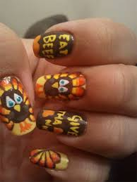 nail for thanksgiving beautiful turkey nail design idea for thanksgiving