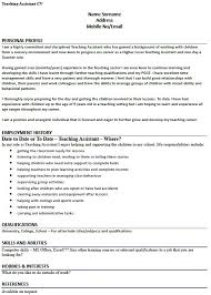 cv templates for teaching assistants teaching assistant cv exle tire driveeasy co