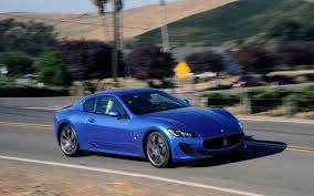 maserati granturismo blue 2013 maserati granturismo sport first test motor trend