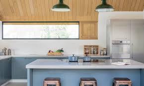 Kitchen Wall Lights Polished Concrete Worktops Light Fixtures Brown Wooden Kitchen