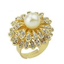 fingers rings gold images Buy online necklace set gold filled pearl flower finger ring jpg