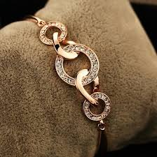 diamond bracelet women images 2018 high quality 18k gold plated cz diamond bracelet for women jpg