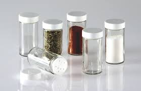 amazon com glass spice jars set of six glass spice bottles