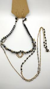 multi layered black necklace images Two tone black and gold multi layered necklace life simply matters jpg