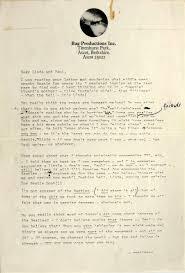 Break Letter Girlfriend john lennon s scathing letter to paul and linda mccartney is up