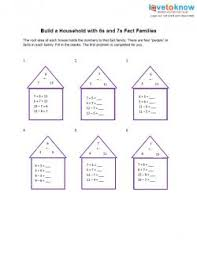 addition and subtraction fact family worksheets lovetoknow