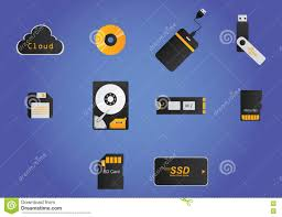 Storage Devices by Storage Devices Stock Vector Image 72500030