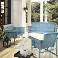 Antique Metal Patio Chairs Vintage Outdoor Porch Furniture Patio Furniture Conversation