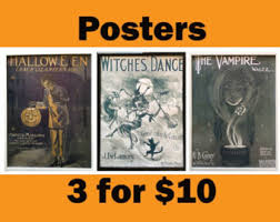 Halloween Decorations On Sale Canada by Halloween Decor Etsy