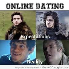 Internet Dating Meme - game of laughs online dating expectations vs reality