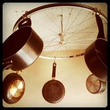 Pots And Pans Cabinet Rack Diy Bicycle Wheel Pots And Pans Rack 12 Steps