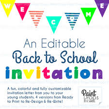 re application letter as a teacher a colorful u0026 editable back to invitation letter from the