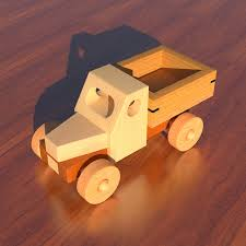 wooden toy pickup truck woodworking plan by cmmyakman brinquedos