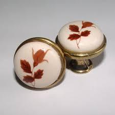 new knobs antique leaf porcelain bathroom kitchen cabinet desk