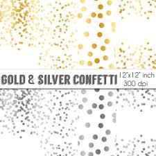 70 sale confetti digital paper gold and silver confetti
